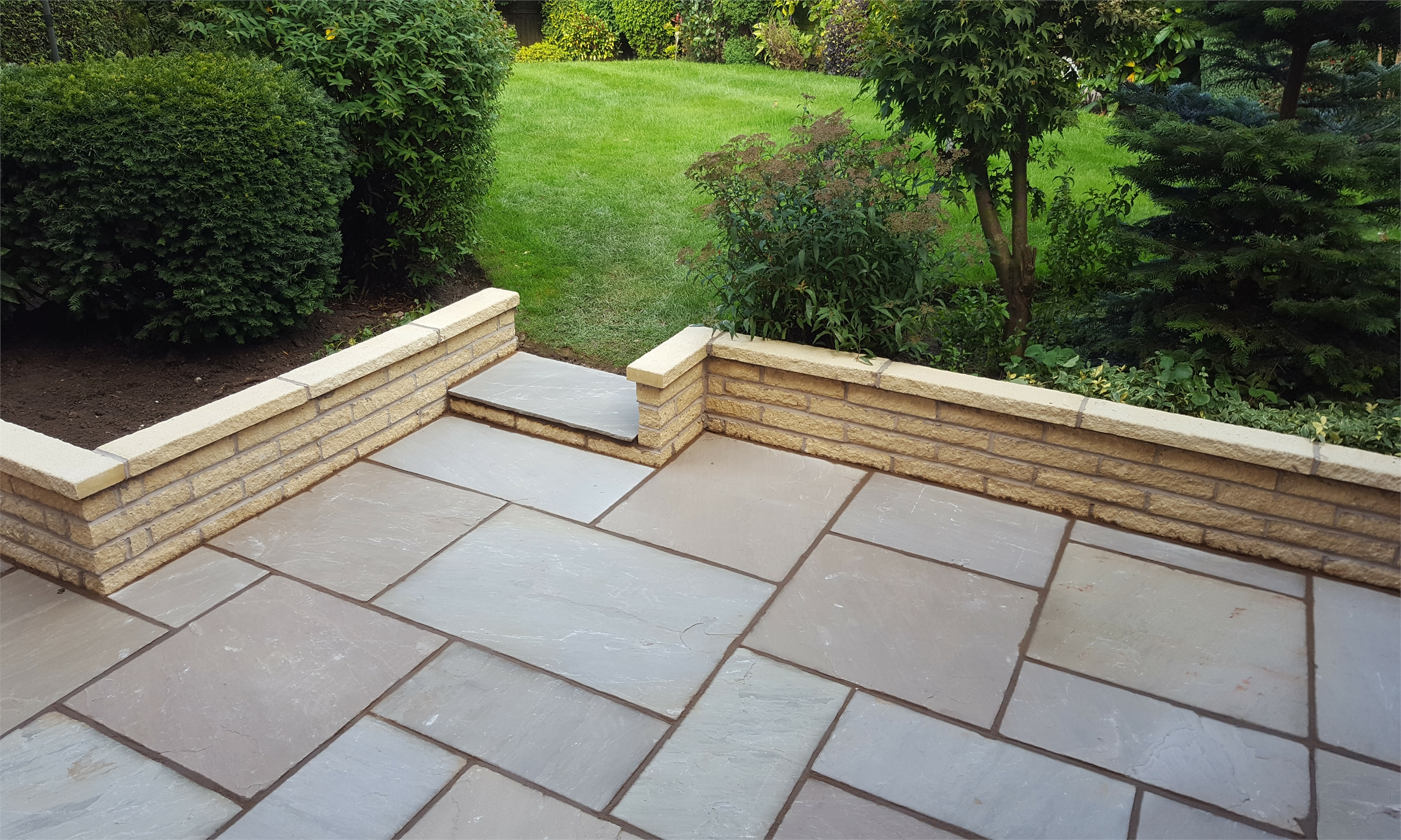 patio + new walling